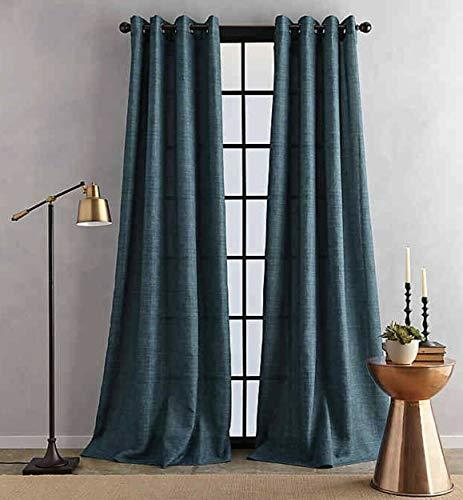 Bedeck Juma Solid 50x84 Inch Grommet Window Curtain Panel in Teal