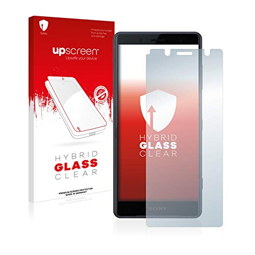 upscreen Hybrid Glass Panzerglas Schutzfolie kompatibel mit Sony Xperia XZ2 Compact 9H Panzerglas-Folie