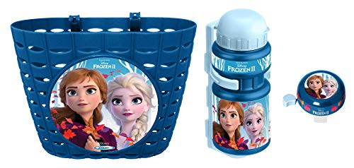 Stamp Combo Frozen II (Basket + Drinking Bottle + Bell), Girls, Azul
