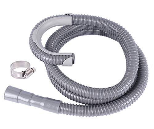 ALXEH Universal Washing Machine Drain Hose 8ft, Flexible Washer Drain Hose Discharge Extension Kit, Adjustable Washer Hose Fits up to 1-1/4 Inch Drain Outlet