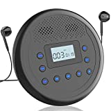 CD Player Portable, MONODEAL Rechargeable Portable CD Player with Built-in Speakers, Walkman CD Player for Car and Personal Use, Anti-Skip CD Player with Headphones