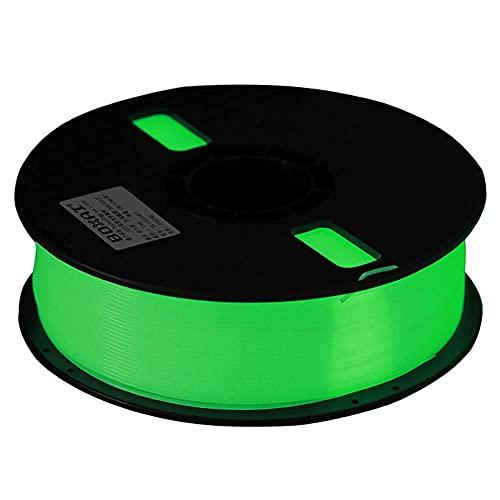 3D Printer Filament 1.75mm, Luminous PLA Filament, 1kg Spool, for 3d Printer and 3d Pen, 340 Meters-Luminous green