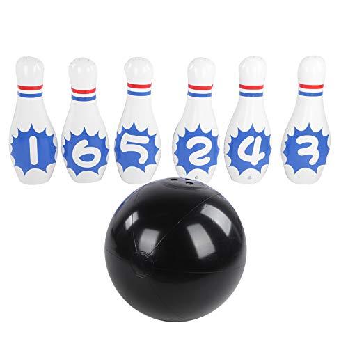 MOH Bowling-Set SL001‑39 Indoor-/Outdoor-Spiele Aufblasbares Bowling-Set für Kinder Erwachsene Lernspielzeug