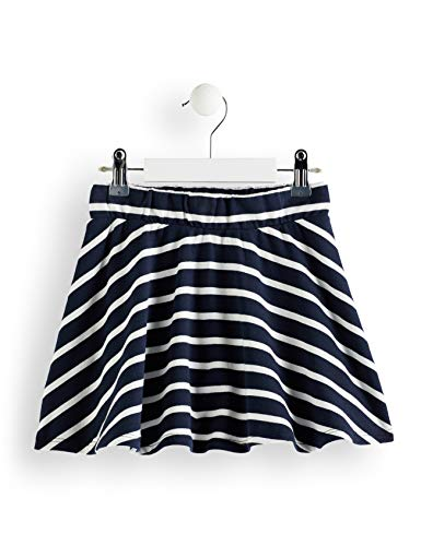 RED WAGON Falda Niñas, Multicolor (Off-white And Navy), 110, Label:5 Years