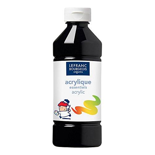 Lefranc & Bourgeois - Pintura acrílica líquida, 500 ml, color negro