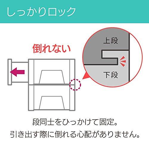 アイリスオーヤマチェストウォークインクローゼット3個セット幅39×奥行50×高さ23.2cmホワイト/クリアBC-L