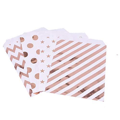 Lote de 100 bolsas de papel para caramelos, dulces, golosina