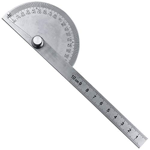 Edelstahl-Rundkopf 180 Grad Winkelmesser Winkel, Werkzeugwinkel Lineal Meßwinkel Winkel Winkel zum Holz Indexing Messgeräts