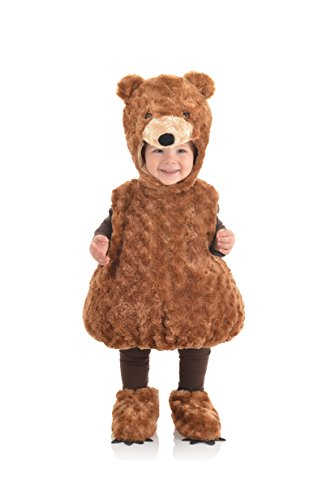 UNDERWRAPS Kid's Toddler's Teddy Bear Belly Babies Costume Childrens Costume, Brown, Small