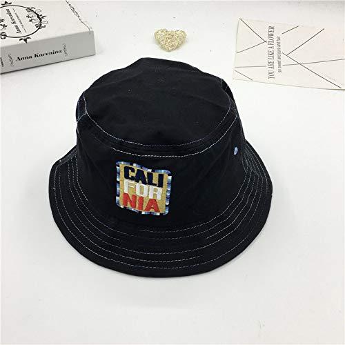 JXFM Fisherman hoed kleur lijn letter zonnekap hoed art student platte pet casual mannen en vrouwen wastafel hoed tij