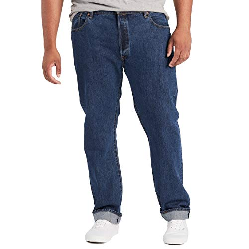 Levi's Big and Tall 501 Button Fly B&t Vaqueros Straight, Azul (Sponge St 0069), 32W/38L para Hombre
