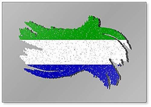 Sierra Leone Grunge Flagge, Sierra Leone mit Shadow Illustration Kühlschrankmagnet