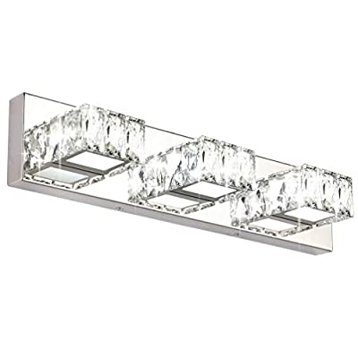 Aipsun Crystal Vanity Lights Modern 4 Lights LED Vanity Lights for Bathroom Vanity Lighting Fixtures Modern Bathroom Wall Light (White Light)
