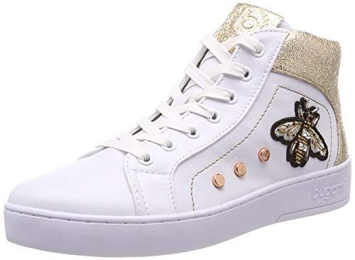 Bugatti Damen 432291345969 Hohe Sneaker, Weiß (White/Gold 2051), 38 EU