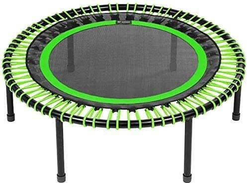 YAOJIA Indoor trampoline Indoor Trampoline For Kids Folding Legs, Comfort Mat, Green, 112 Cm, Medium Bungees (60-90 Kg)