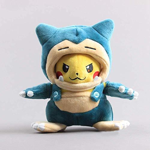 Boufery Dibujos Animados Anime Pikachu Snorlax Disfraz de Peluche de Juguete, muñecos de Peluche Suaves Kabigon Maniac, cumpleaños para niños de 8