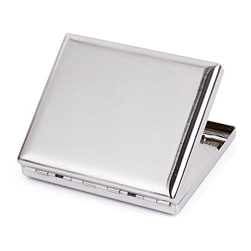 Edelstahl gebürstet Metall Zigarettenetui Box bietet Platz für 20Zigaretten Type 1