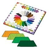 CreativaMente - Tarjetas precortadas y con guías de Plegado para Hacer Origami 3D, Color Amarillo Dorado, césped, Bandera, Verde inglés, 874