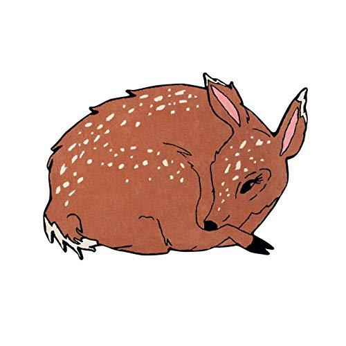 Lorena Canals tapijt, wol, Animals Deer, 65% wol, 35% katoen, meerkleurig, 120 x 180 cm