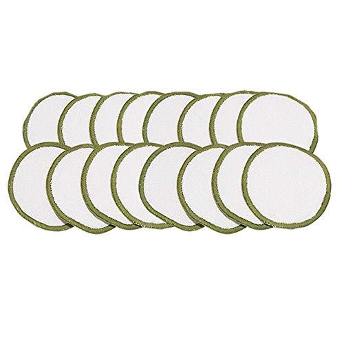SNOWINSPRING DéMaquillant RéUtilisable (16Pc) avec Sac Lavable Coton Fibre de Bambou Organique Adapté à Toutes les Types de Peau Coton