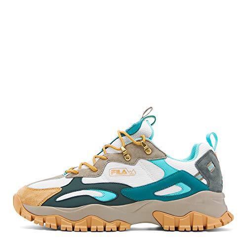 Fila Men's Ray Tracer TR 2 Sneaker, White/Vetiver/Storm, 8