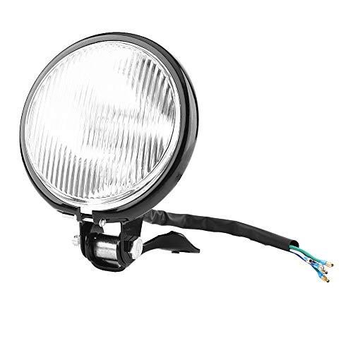 Phare Avant de Moto, Keenso 5 Pouces Feux Avant 12V Projecteur de Lumière Ampoule Lampe de Moto Rond Universel(White)