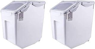 XJZKA Conteneur de Stockage de Riz 10 kg, boîte scellée pour céréales/Riz/Farine Bac de Rangement étanche à la poussière e...