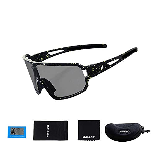 AXB Gafas Sol Ciclismo, Gafas Sol Polarizadas Ciclismo Montura De TR90 Gafas Sol Deportivas 100% Protección UV 400 Anti Gafas Ciclismo para Montar se Adapta Al Esquí Correr Ciclismo
