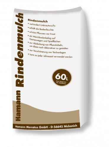 Hamann Rindenmulch 60 l Garten-Mulch zum Schutz & dekorativen, kreativen und individuellen Gestaltung