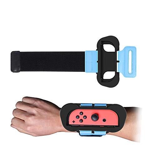 Cinturino da polso Just Dance 2020 da 2 pezzi per controller Joy Con per Nintendo Switch, cinturino da polso elastico regolabile Achort con gamepad per Joycon Grande divertimento per bambini e adulti