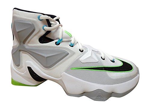 Nike Herren Lebron XIII Basketballschuhe, Blanco (Blanco (White/Black-Wolf Grey-Vltg Grn), 43 EU