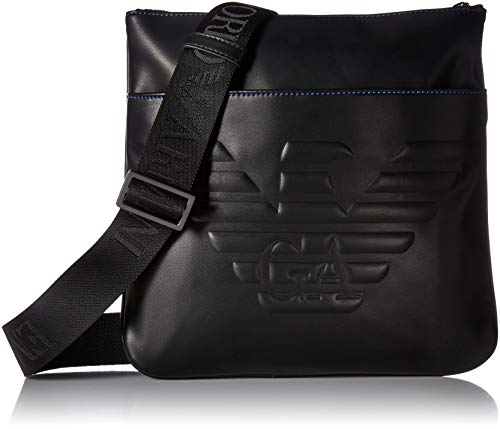 EMPORIO ARMANI MAN BIG EAGLE BIG FLAT MESSENGER B Y4M180YG90J-81072 BLACK