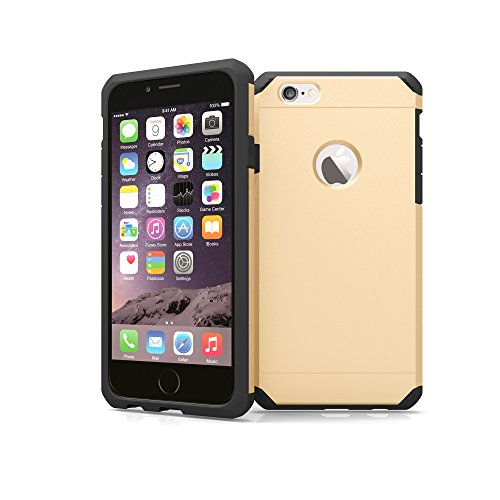 iPhone 6 / 6s Case, ImpactStrong Heavy Duty Dual Layer Protection Cover Heavy Duty Case for Apple iPhone 6 / 6s (Gold)