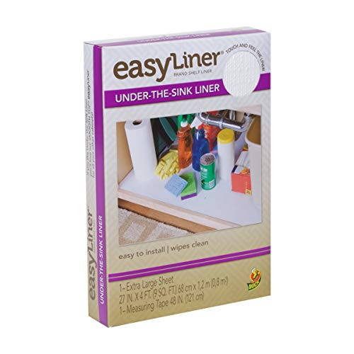 Easy Liner Under-the-Sink Liner, Non-Adhesive, White, 27 Inches x 4 Feet (280741)