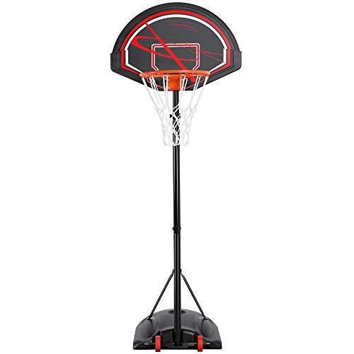 Yaheetech Basketballständer Baketballkorb mit Ständer Einstellbar Basketballanlage mit Wasser oder Sand befüllbar Tragbar Backboard Ständer für Outdoor