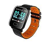 YDK Smart Watch A6 Hombre Mujer Bluetooth Monitor De Frecuencia Cardíaca Presión Arterial A Prueba De Agua Pulsera Inteligente Smartwatch Reloj para Teléfonos iOS De Android,F