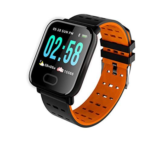 JXFF Reloj Inteligente A6 para Hombres, Monitor De Ritmo Cardíaco, Rastreador De Fitness, Ejercicio De Presión Arterial Ejercicio Smartwatch para Android iOS,C