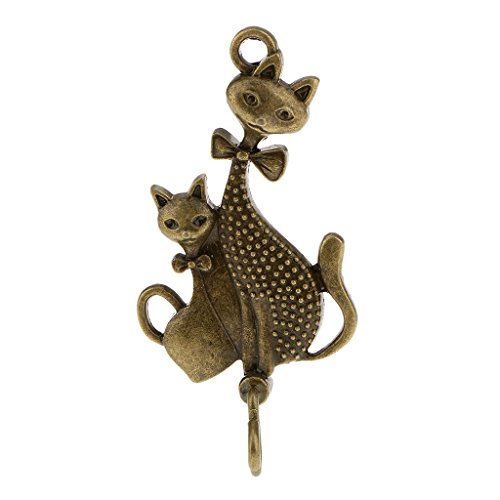 MagiDeal Carillon à vent en métal avec motif chat - Décoration de jardin