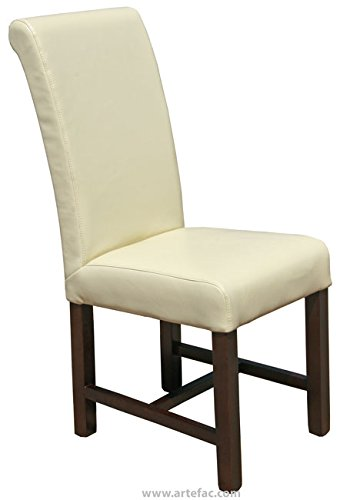 ARTeFAC R-491 High Back Cream Leather Kitchen Dining Chair