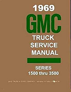 1969 GMC TRUCK & PICKUP REPAIR SHOP & SERVICE MANUAL Includes; 1500, 2500, 3500, C, K, P, Fenderside, Wideside, pickup, Sierra,Grande, Custom, Super,panel, 3+3 crew cab, bonus cab, Suburban, Jimmy, Stakebed, forward control, stepvan