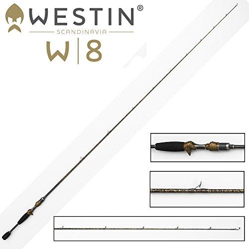 Westin W8 Vertikalrute Vertical Jigging-T 185cm M 14-28g , Angelrute zum Spinnfischen, Ruten für Barsche, Hecht, Zander & Forellen, einteilige Spinnrute zum Vertikalangeln