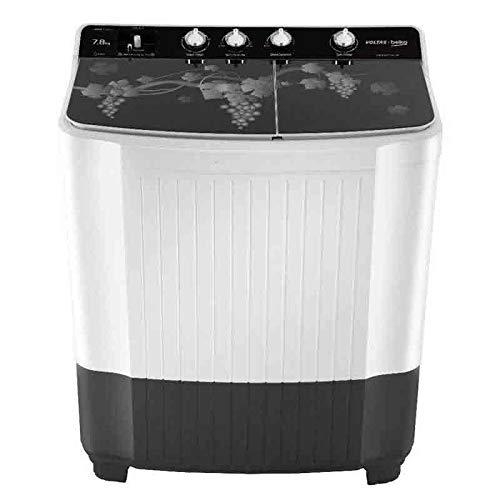 VOLTAS BEKO 8.2 kg Semi Automatic Top Loading Washing Machine WTT82GRG (Grey)