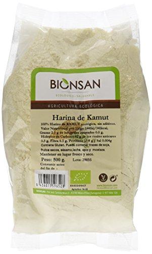 Bionsan Harina de Camut Ecológico - Trigo Khorasan - 4 Paquetes de 500 gr - Total: 2000 gr…