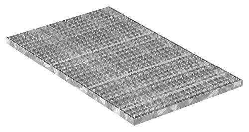 Fenau | Gitterrost/Industrie-Rost/Garagen-Rost, Maße: 1000 x 600 x 30 mm, MW: 30/30 mm, Materialstärke: 2 mm - Radlast: 1,52 kN/Flächenlast (m²): 7,84 kN, feuerverzinkt, Pressrost