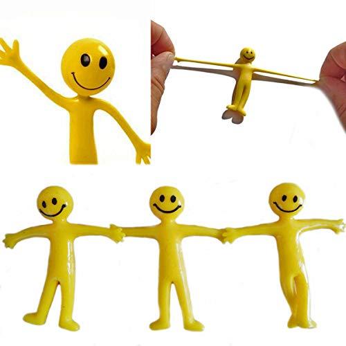 Gifts SHATCHI-1033 Lot de 20 sachets de remplissage extensibles Smiley Jaune
