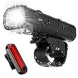 Tatopa Fahrradlicht Led Set | Fahrradlampe USB Wiederaufladbare Fahrradbeleuchtung Wasserdicht Fahrrad Licht | StVZO Zugelassen Frontlicht und Rücklicht Fahrradlichter