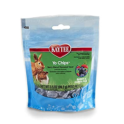 Kaytee Mixed Berry Flavor Yogurt Chips For Rabbit And Guinea Pig, 3.5-Oz Bag by Central Garden & Pet