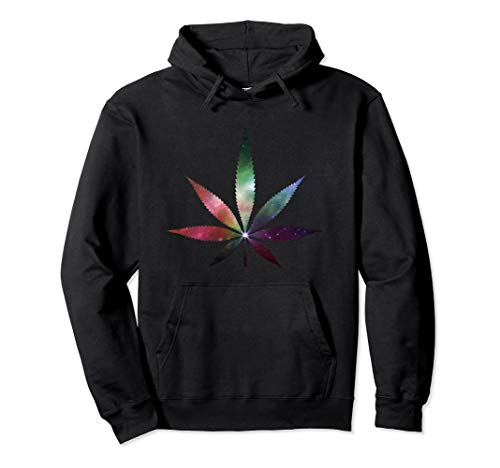Cannabis Tee Kanabis Marihuana Galaxy Hanfblatt THC T Shirt Pullover Hoodie