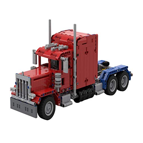 CYGG Modelo de Camiones para Construir, Moc Peterbilt Truck Blocks Technic Compatible con Lego, Modelos de Camiones para Adultos para Construir (845 PC +)