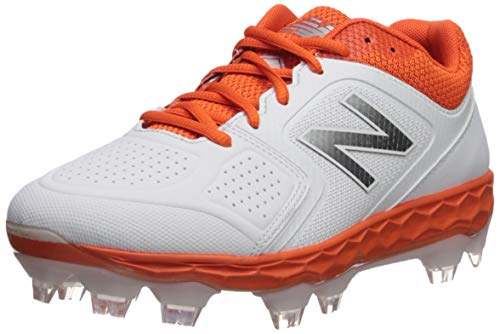 New Balance Women's Velo V1 Molded Baseball Shoe, Orange/White, 6.5 D US